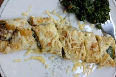 Eggs Stuffed with Sautéed Zucchini & Cheese Recipe