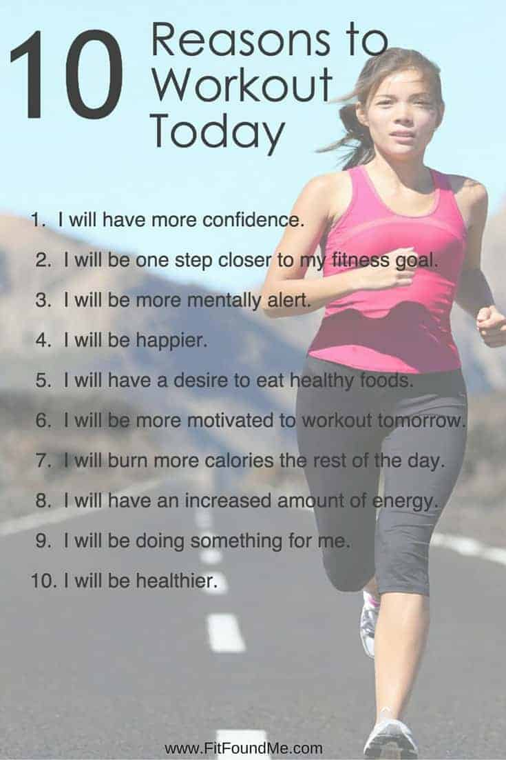 10 reasons to workout