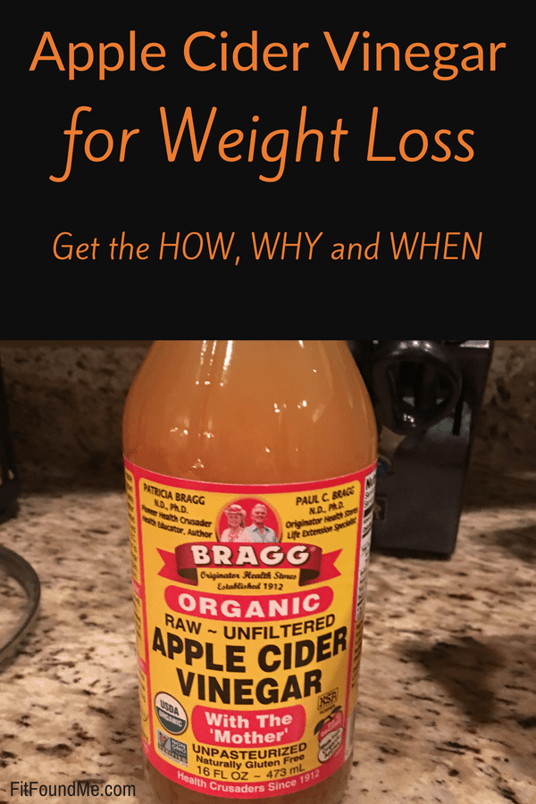 bottle of apple cider vinegar weight loss drink