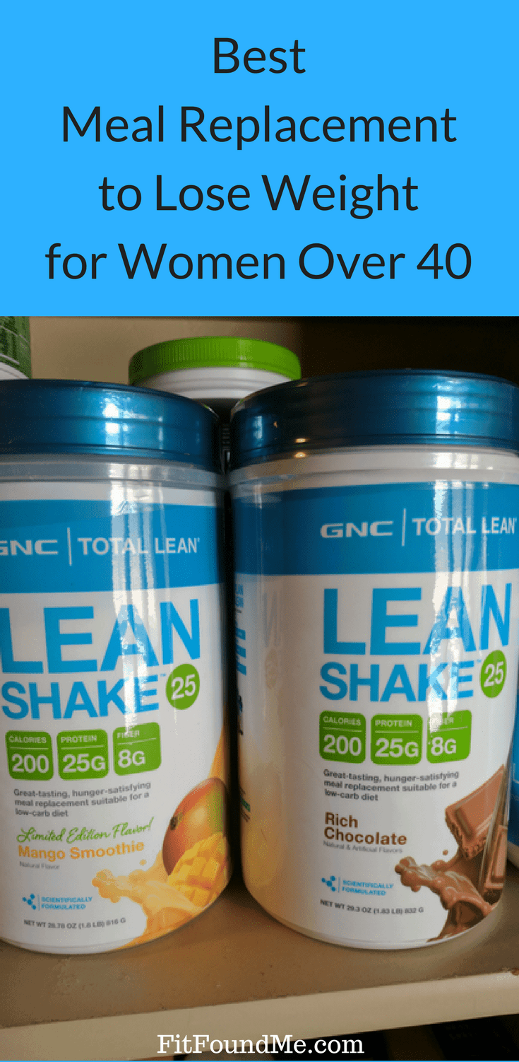 GNC Lean Shake protein powder as a meal replacement for weight loss