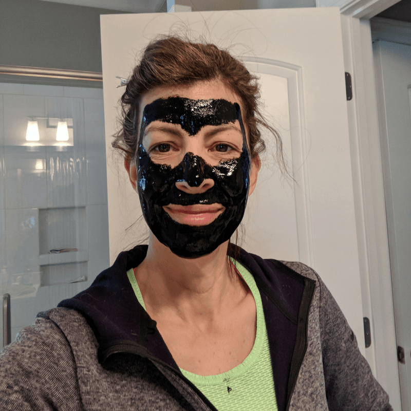 Friday Faves facial products like this black charcoal mask on Stephanie