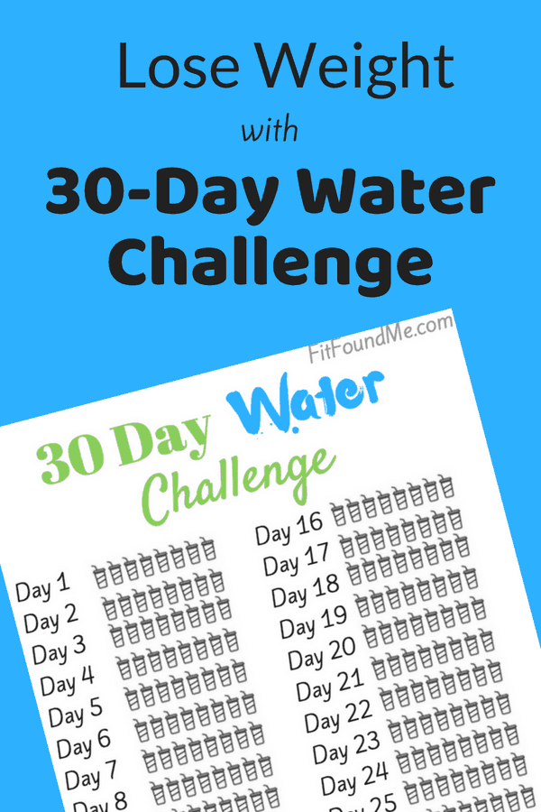 30-day water challenge with image of printable