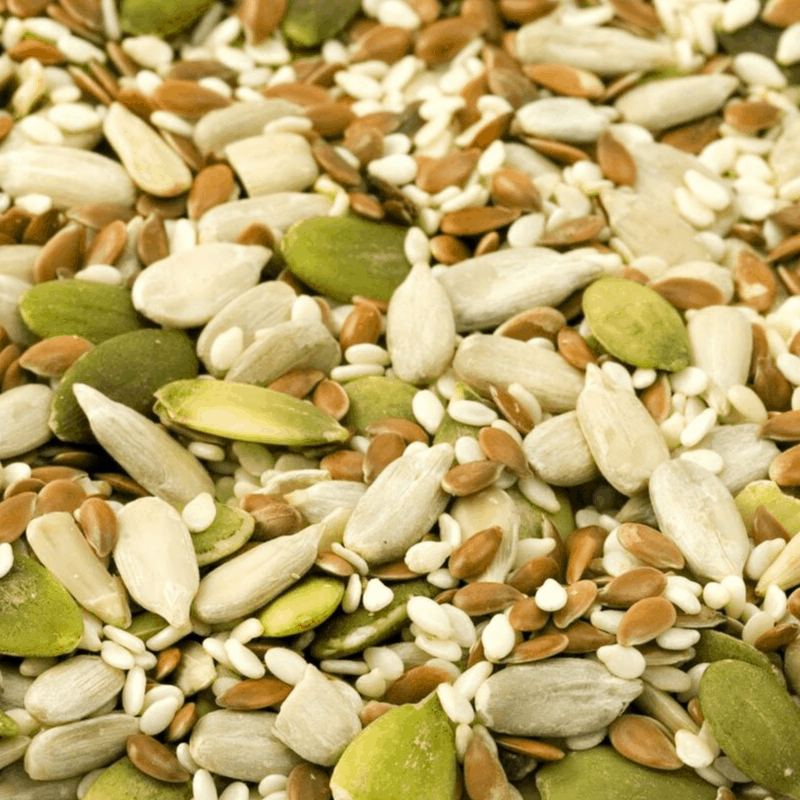mixture of nuts and seeds