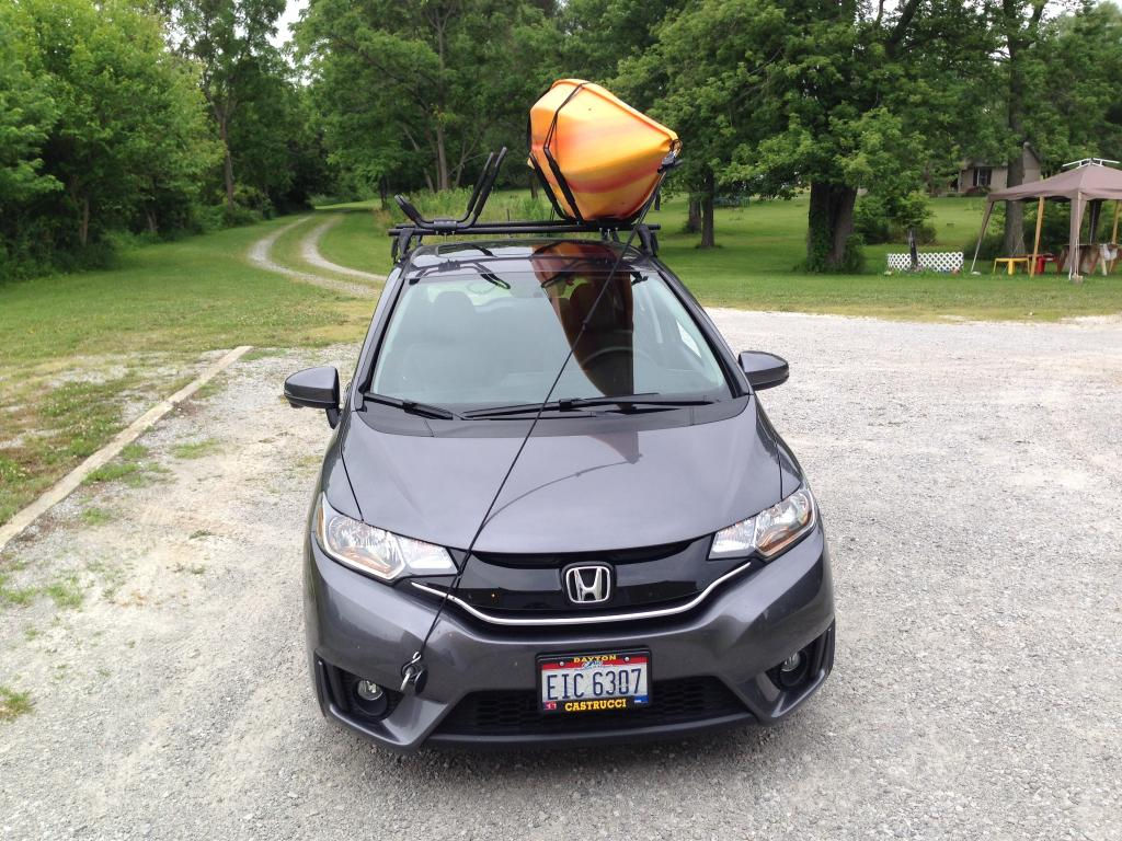 This is how I got it home from the store. Honda Accord Kayak Rack Off 68