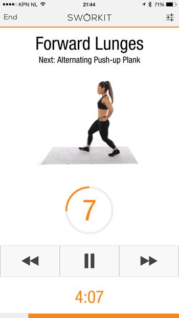 sworkit oefening