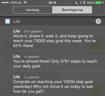 endomondo-life-notificaties