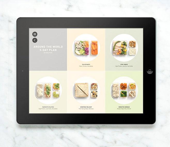 Prepd Pack app op de iPad
