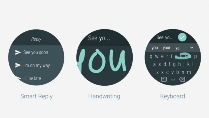 Android Wear 2.0 tekstinvoer