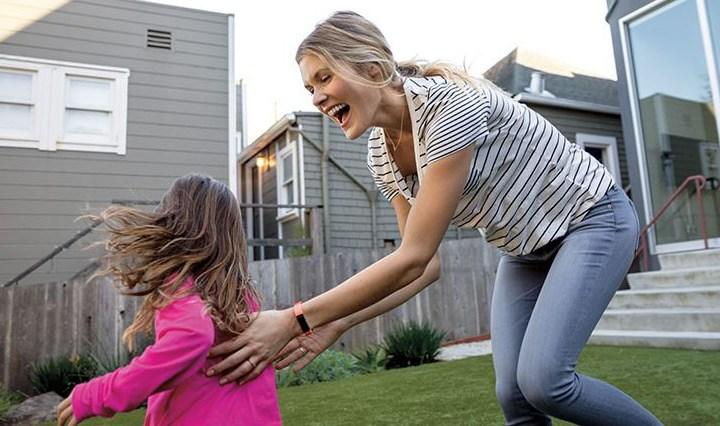 Fitbit-kinderen en moeder