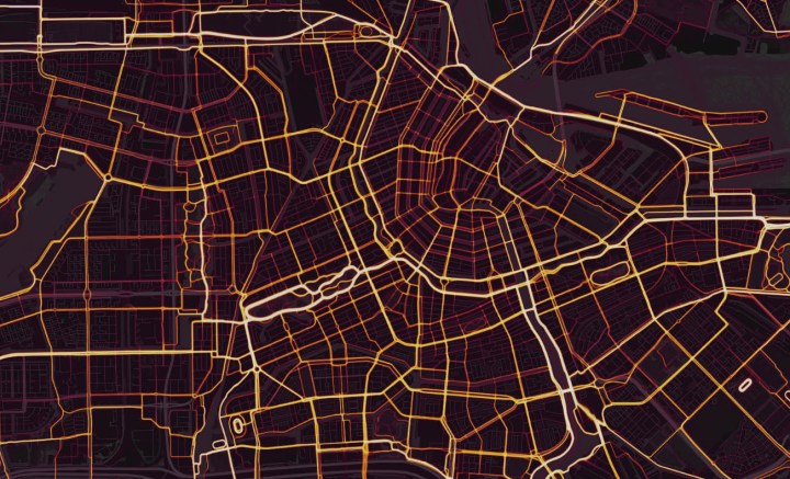 Strava Heat Map Amsterdam