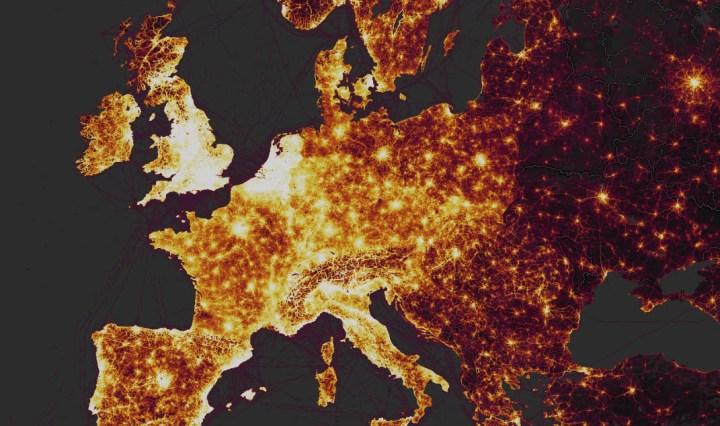 Strava Heat Map Europa