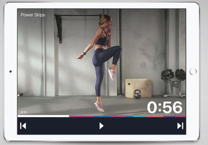 Fitbit Coach op iPad