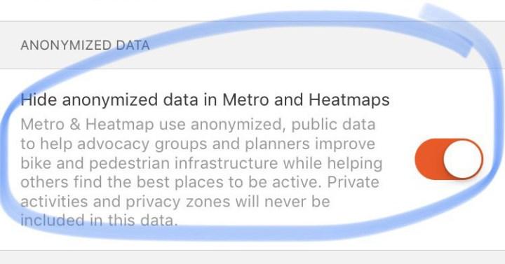 Strava Heatmaps uitzetten