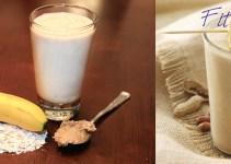 fıstık ezmeli yulaflı ve muzlu smoothie