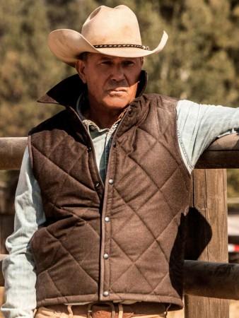 Yellowstone John Dutton Vest Fit Jacket