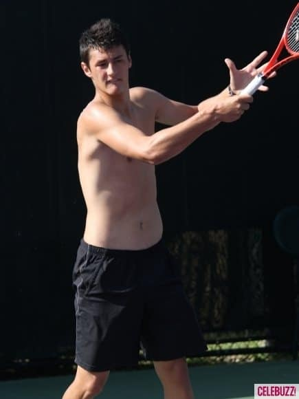 Novak-Djokovic-Sharpens-His-Tennis-Skills-Shirtless-2-435x58