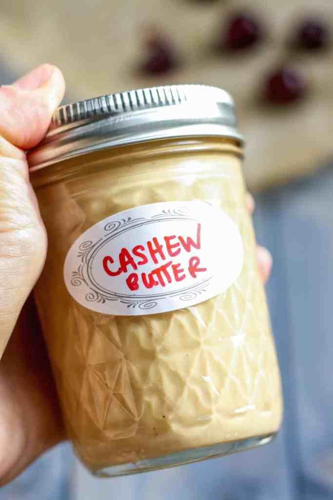 Cherry Cashew Butter Smoothie [Fit Mitten Kitchen]