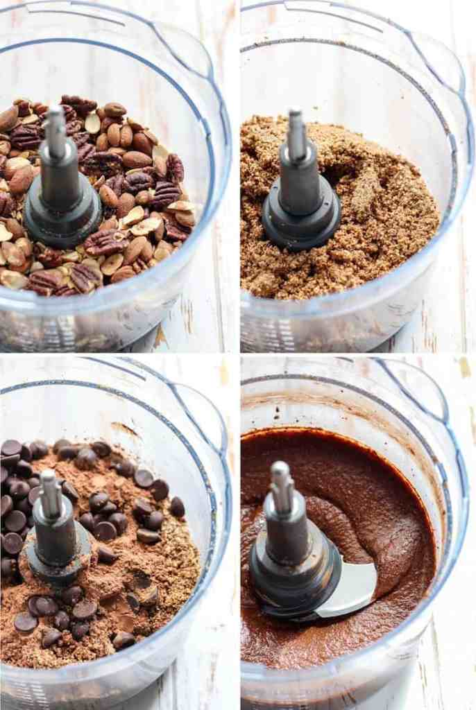 Making your own nut butter at one is so simple! All you need is just 4 ingredients for this healthy Double Chocolate Almond Pecan Butter