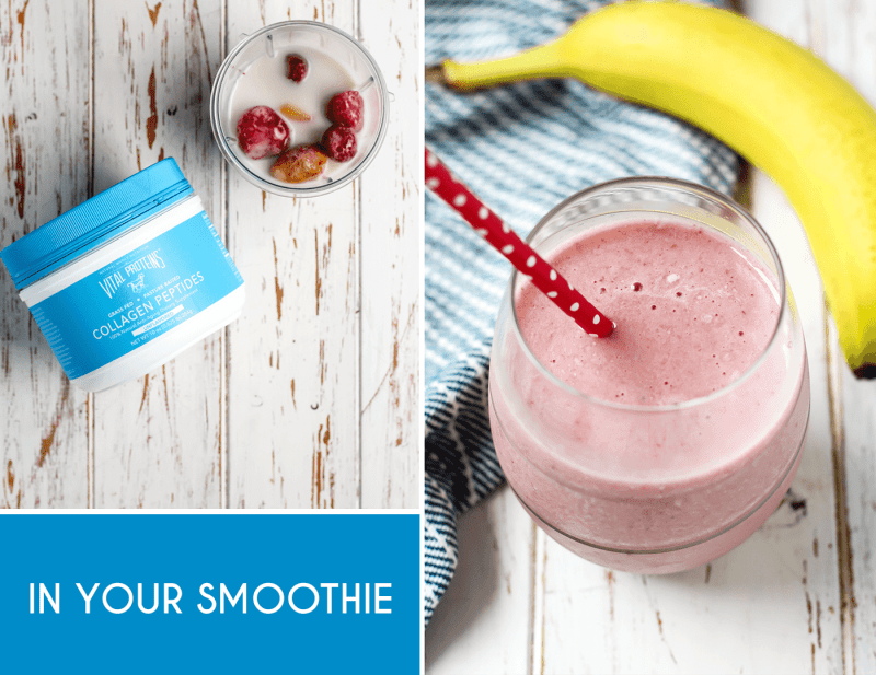 Everyday Easy Ways to Add Collagen to Your Diet. Add collagen peptides to your favorite smoothie combo.