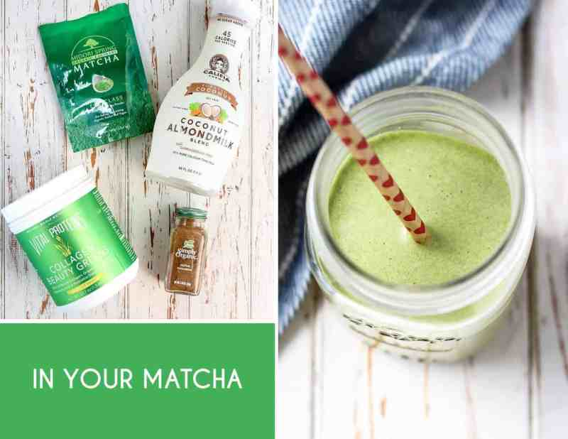 Everyday Easy Ways to Add Collagen to Your Diet [ Iced Matcha Latte ]