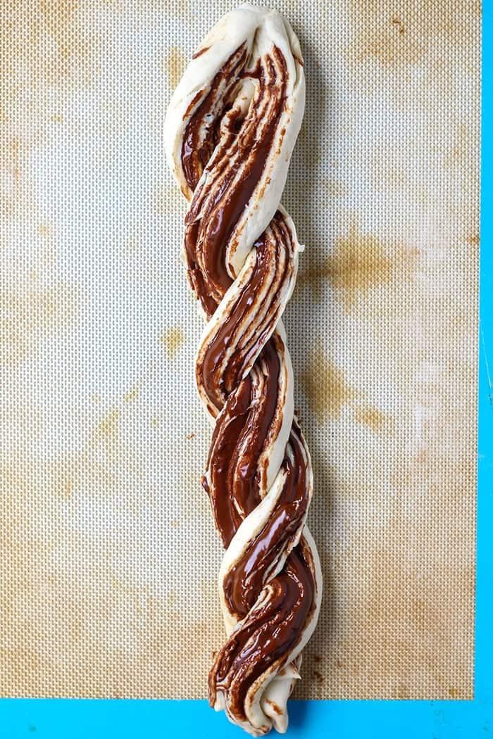 2-Ingredient Chocolate Braided Bread - Step 5.