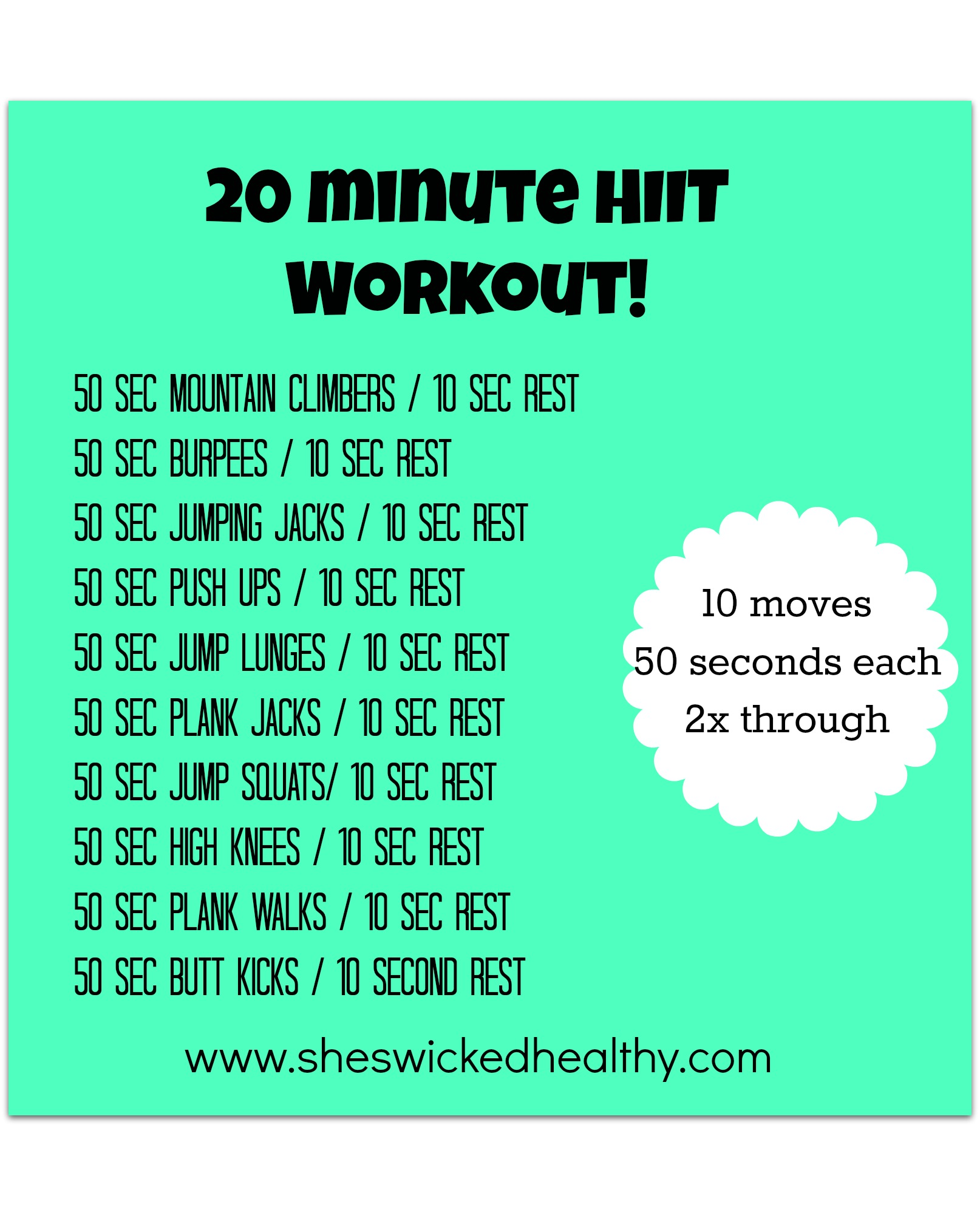 photo relating to Printable Hiit Workouts titled 5 No cost Complete-Entire body Exercises in just 20 Minutes or Significantly less! -