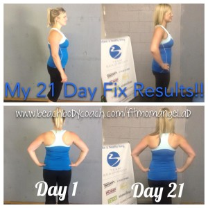 Round 1 of the 21 Day Fix in October, 2014