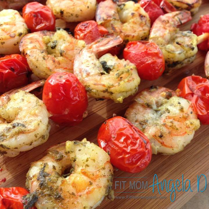 Grilled Pesto Shrimp Kabobs