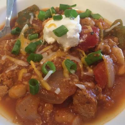 Slow Cooked Pumpkin Turkey Chili