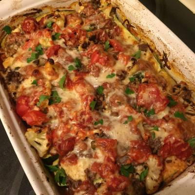 Skinny Veggie and Beef Lasagna