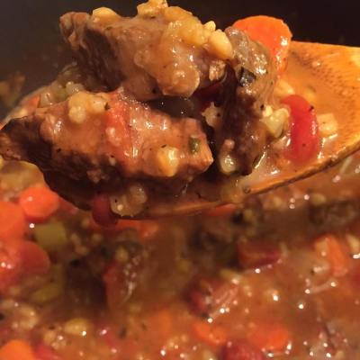 Fixed Up Beef Barley Stew