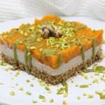 Cheesecake di zucca e pistacchi
