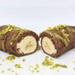 Banana roll al cacao e pistacchio