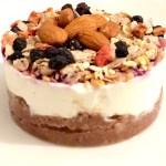 Cheesecake allo yogurt e muesli di mirtilli
