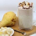 Mug cremosa al cioccolato e pera
