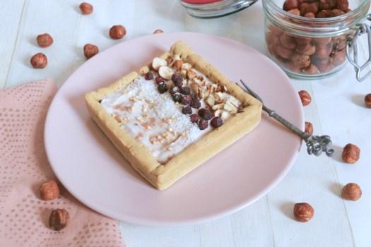 Crostatina proteica alla vaniglia