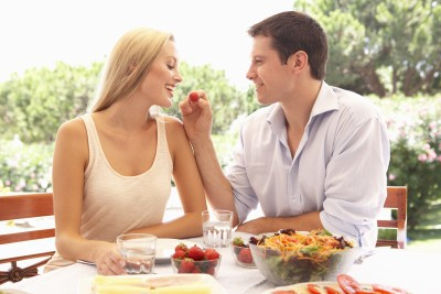 Couple Eating Fruit