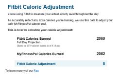 Fitbit calories