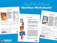 Nutrition Worksheet Collage