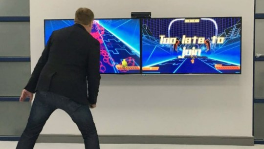 iWall Challenges Players with Interactive Motion Games   Fitness Gaming It features 4K game graphics and highly immersive games that make it stand  out from other interactive walls and similar gaming products