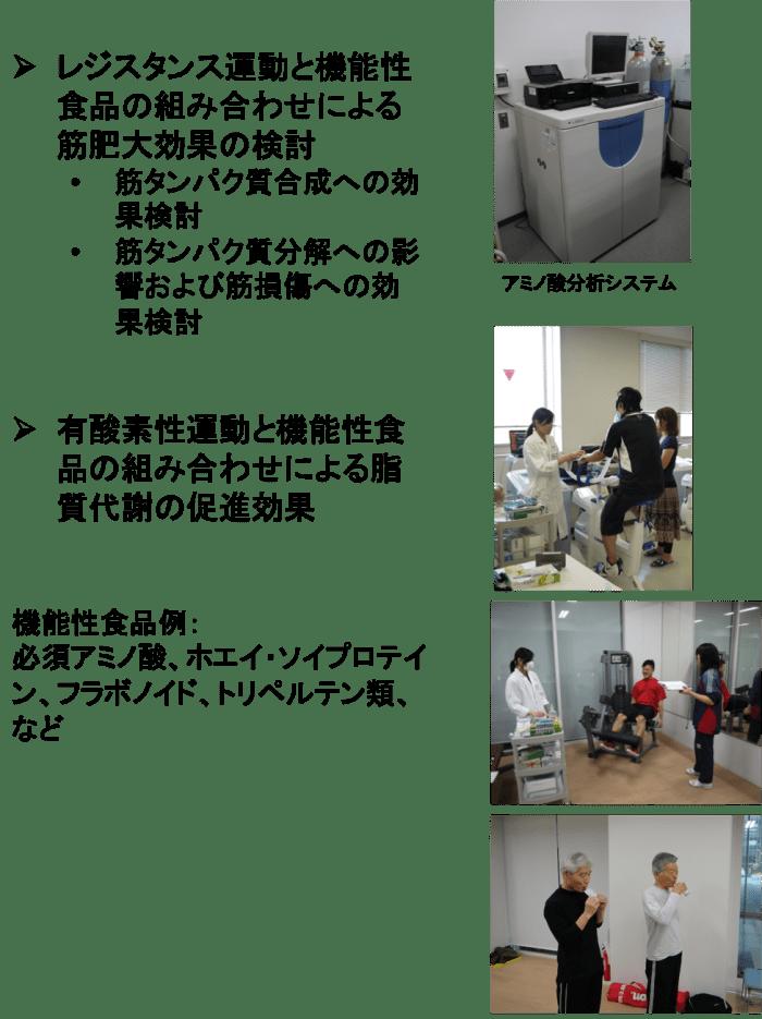 運動効果を高める機能性食品の検討 (企業との共同・受託研究を含む)