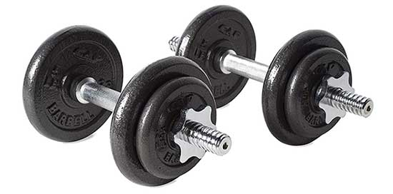 RSWB-40TP Dumbbell Set (40 lbs) by CAP Barbell
