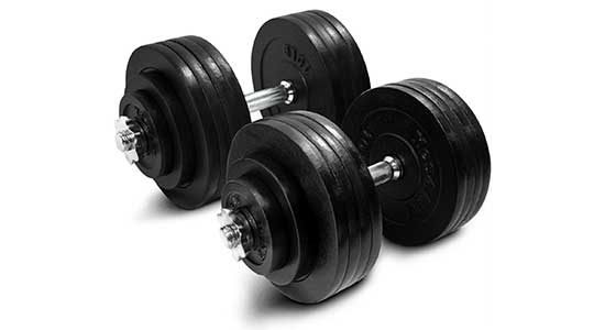 Adjustable Dumbbells (200 lbs) by Yes4All