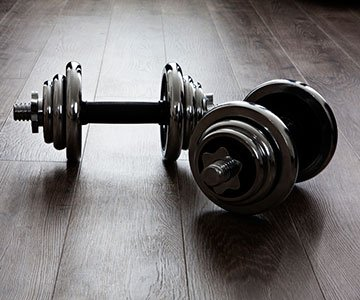 Working Out Using Dumbbells