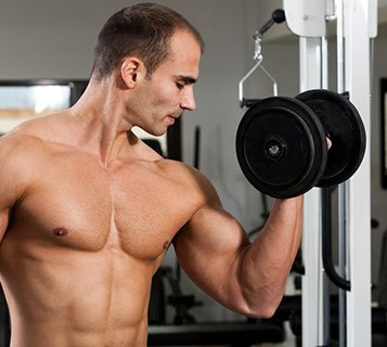 Man Showing Biceps Workout