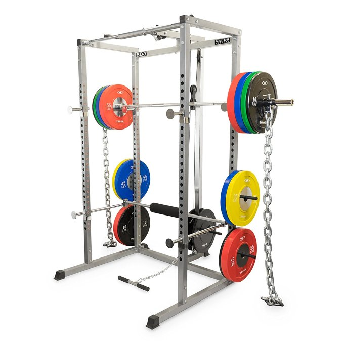 Weights kept in a power cage