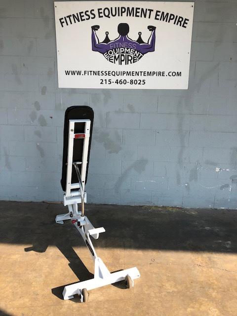 Buy Flex Fitness 0 90 Adjustable Bench On Wheels Rare