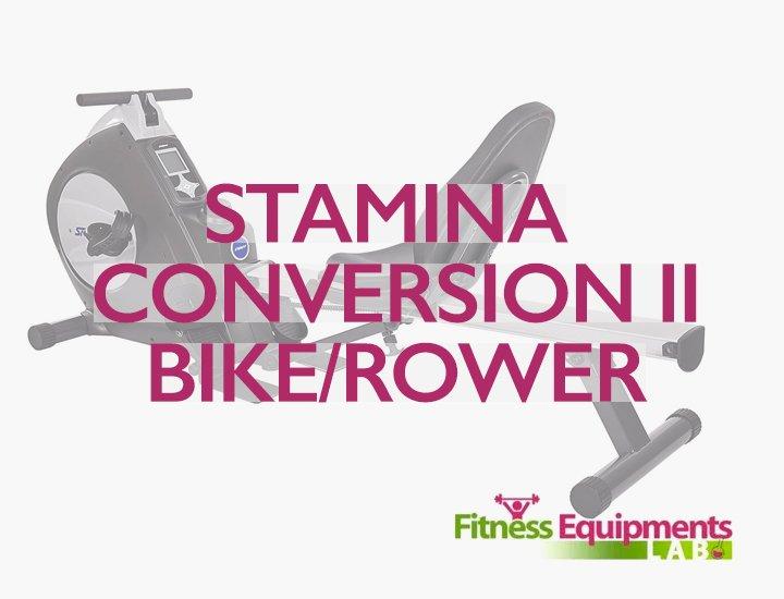 Stamina Conversion II Recumbent Exercise Bike Rower