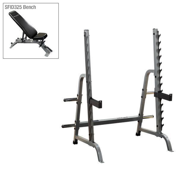 body solid gpr370 rack bench combo sdib370