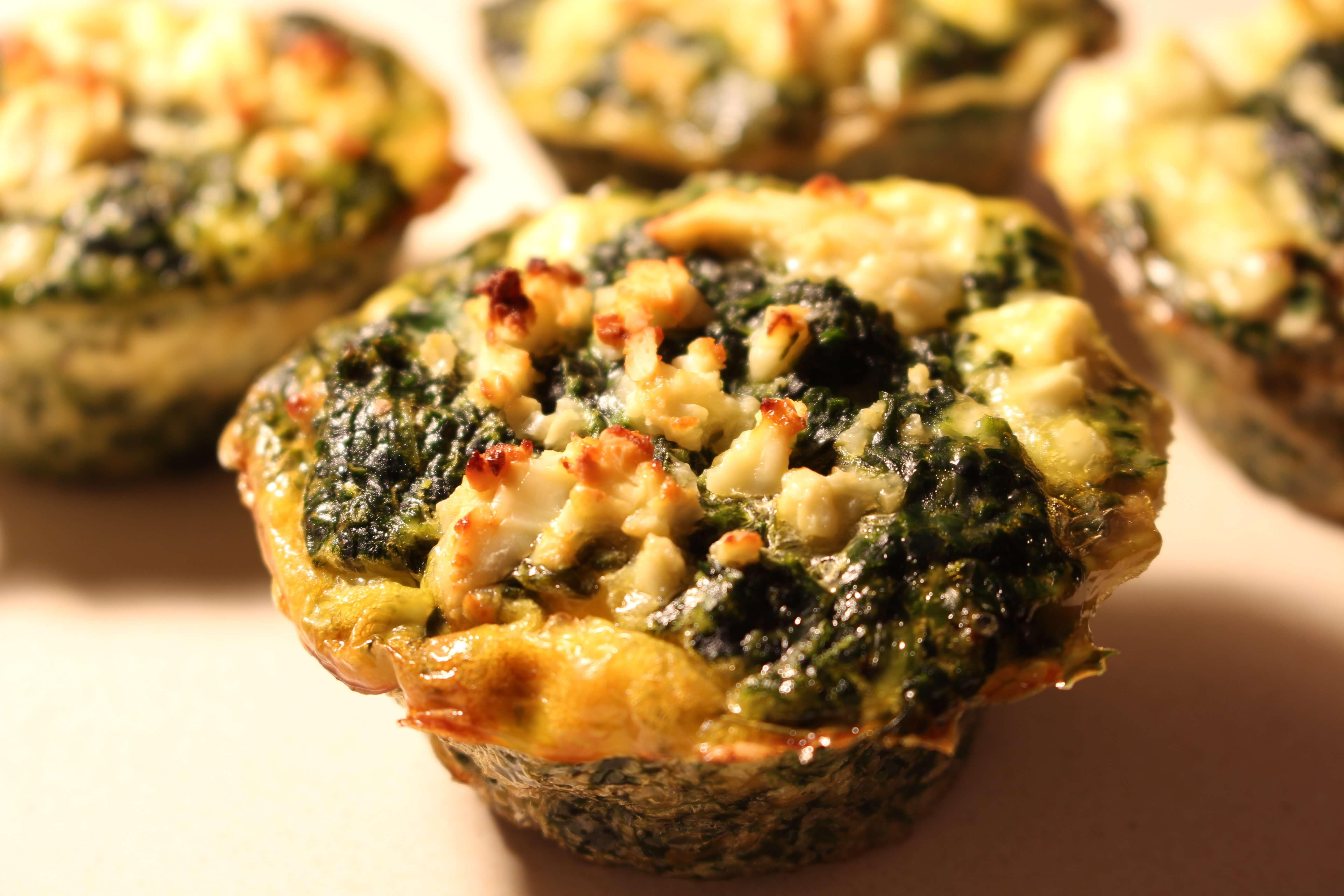 Low Carb Spinat Feta Muffins Fitnessfood4u